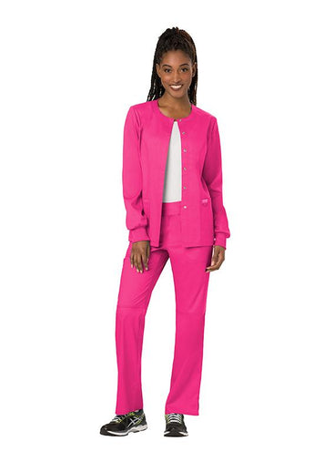 Electric Pink - Cherokee Workwear Revolution Snap Front Jacket