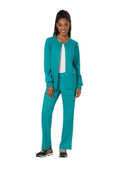 Teal Blue - Cherokee Workwear Revolution Snap Front Warm Up Jacket