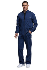 Navy - Cherokee Workwear Revolution Men's Zip Front Jacket