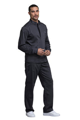 Pewter - Cherokee Workwear Revolution Men's Zip Front Jacket