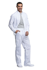 White - Cherokee Workwear Revolution Men's Zip Front Jacket