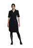 Black - Cherokee Workwear Professionals Button Front Dress