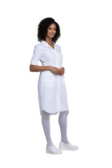 White - Cherokee Workwear Professionals Button Front Dress