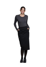 "Black - Cherokee Workwear Professionals 30"" Knit Waistband Skirt"