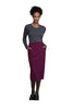 "Wine - Cherokee Workwear Professionals 30"" Knit Waistband Skirt"