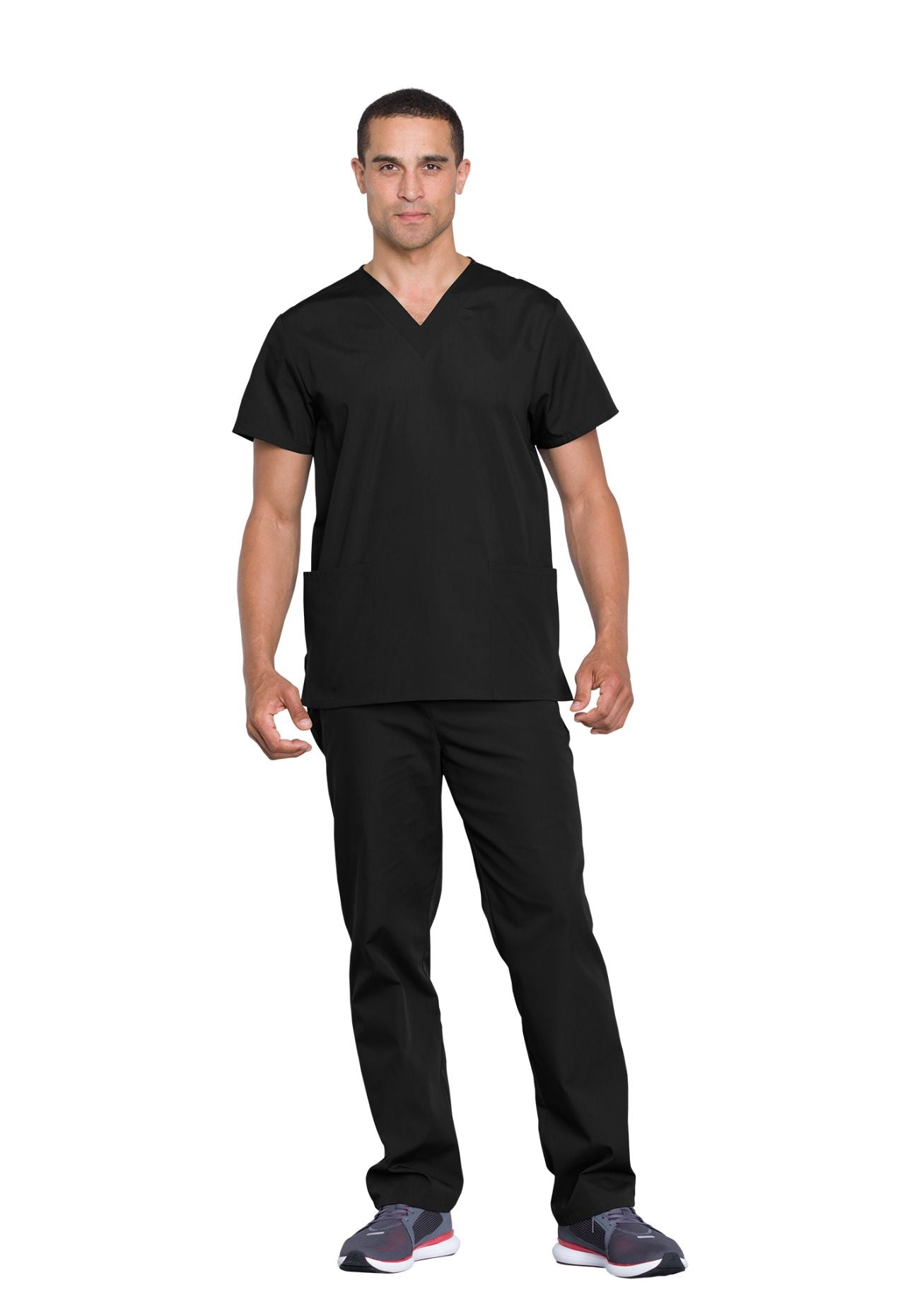 Black - Cherokee Workwear Originals Unisex Top and Pant Set