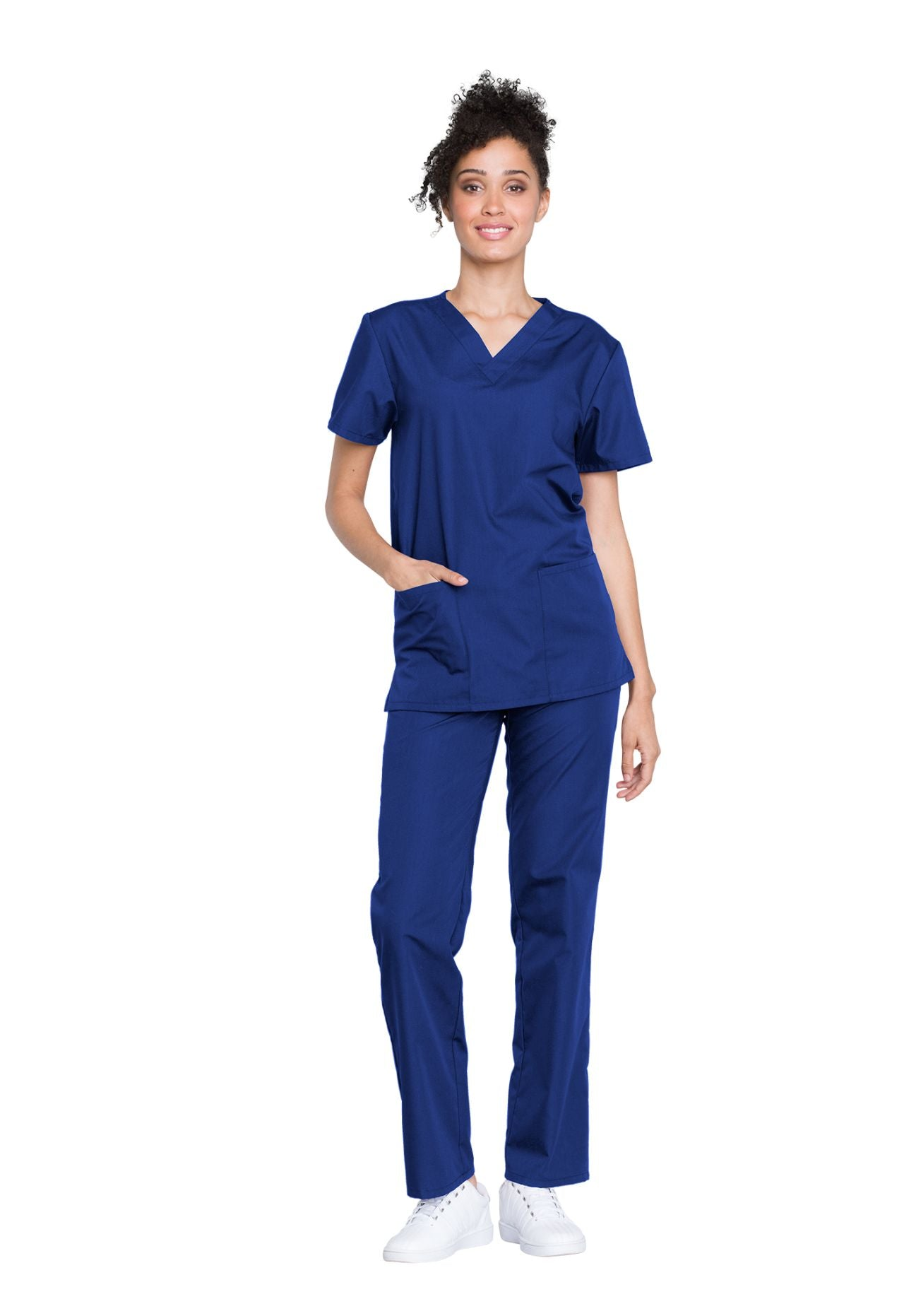 Galaxy Blue - Cherokee Workwear Originals Unisex Top and Pant Set