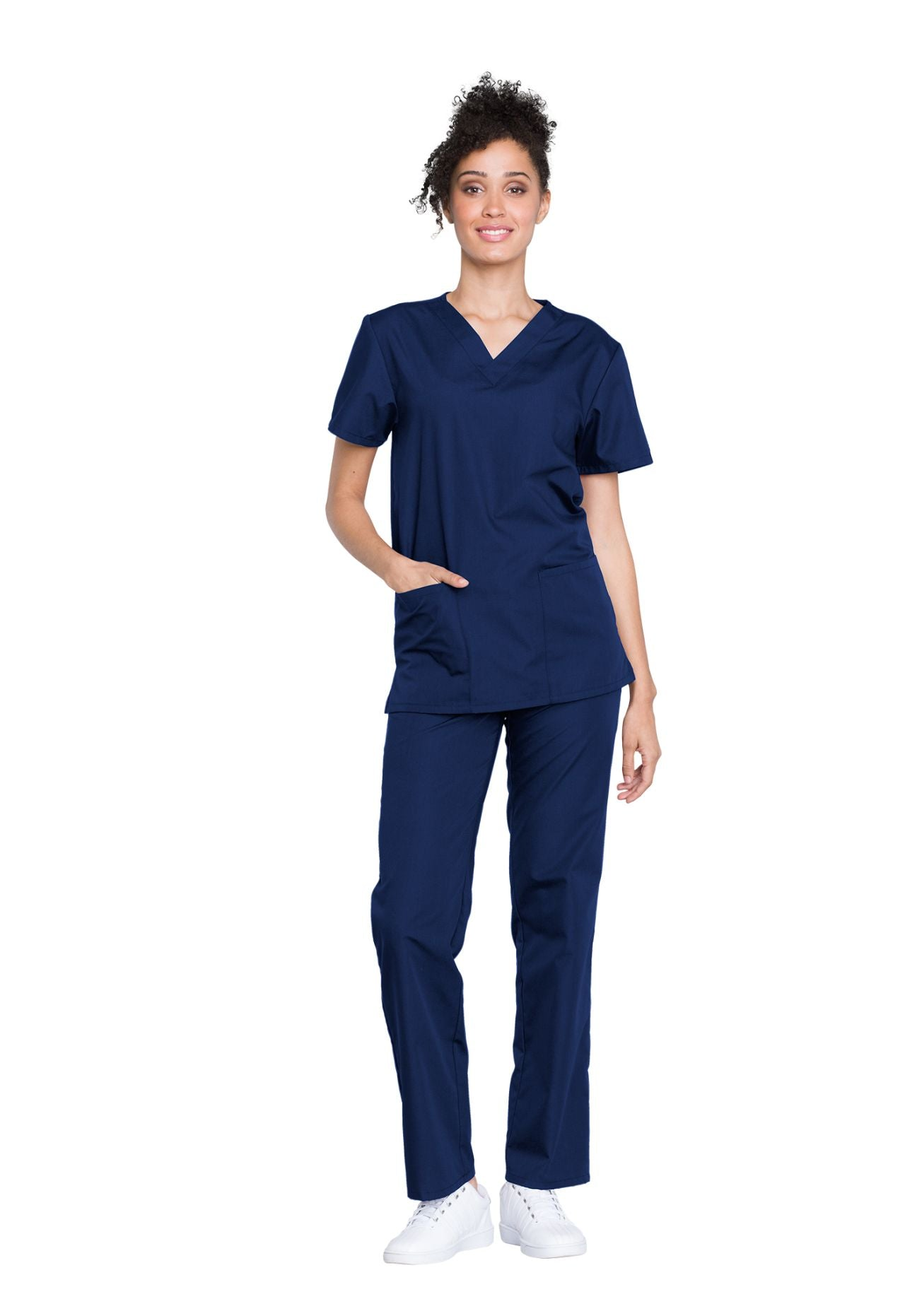 Navy - Cherokee Workwear Originals Unisex Top and Pant Set