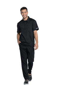 Black - Cherokee Workwear Revolution Men's Polo Shirt