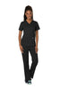 Black - Cherokee Workwear Revolution V-Neck Top