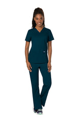 Caribbean Blue - Cherokee Workwear Revolution V-Neck Top