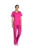 Electric Pink - Cherokee Workwear Revolution V-Neck Top