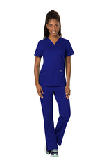 Galaxy Blue - Cherokee Workwear Revolution V-Neck Top