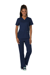 Navy - Cherokee Workwear Revolution V-Neck Top