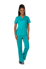 Teal Blue - Cherokee Workwear Revolution V-Neck Top