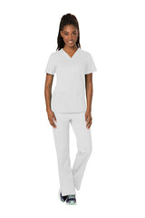 White - Cherokee Workwear Revolution V-Neck Top