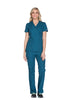 Caribbean Blue - Cherokee Workwear Originals Mock Wrap Top