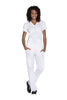 White - Cherokee Workwear Originals Mock Wrap Top