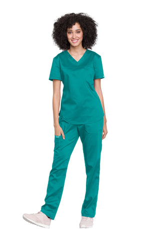 Teal Blue - V-Neck O.R. Top