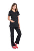 Black – Cherokee Workwear Professionals Maternity Mock Wrap Top