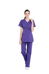 Grape – Cherokee Workwear Professionals Maternity Mock Wrap Top