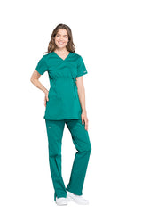 Hunter Green – Cherokee Workwear Professionals Maternity Mock Wrap Top