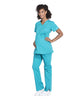 Teal Blue – Cherokee Workwear Professionals Maternity Mock Wrap Top