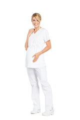 White – Cherokee Workwear Professionals Maternity Mock Wrap Top