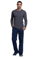 Pewter - Cherokee Workwear Professionals Men's Underscrub Knit