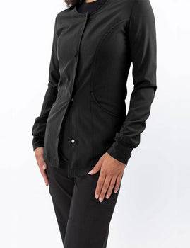 Black - Green Town Zinnia Warm Up Jacket