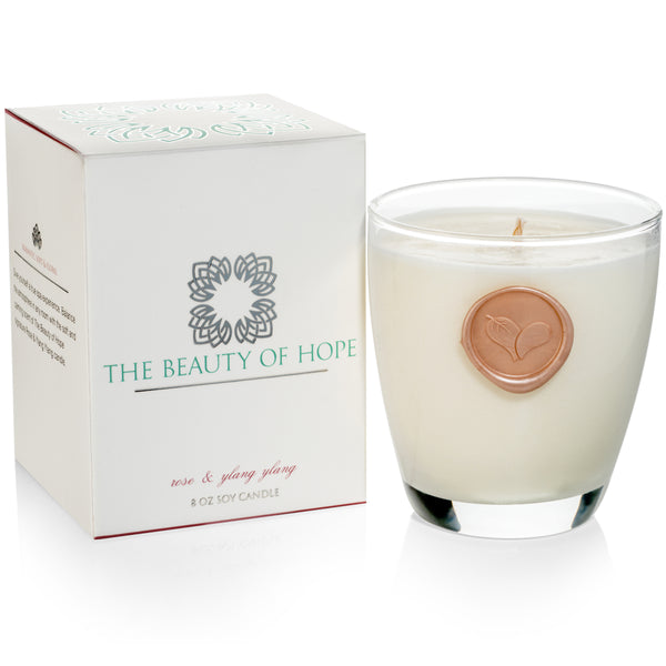 Beauty of Hope Candle + 2 Live Love Spa Notebooks
