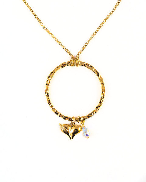 Swarovski Crystal Gold Elipse Necklace