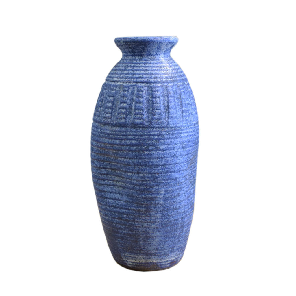"11""  Skinny Vase Blue - TheMississippiGiftCompany.com"
