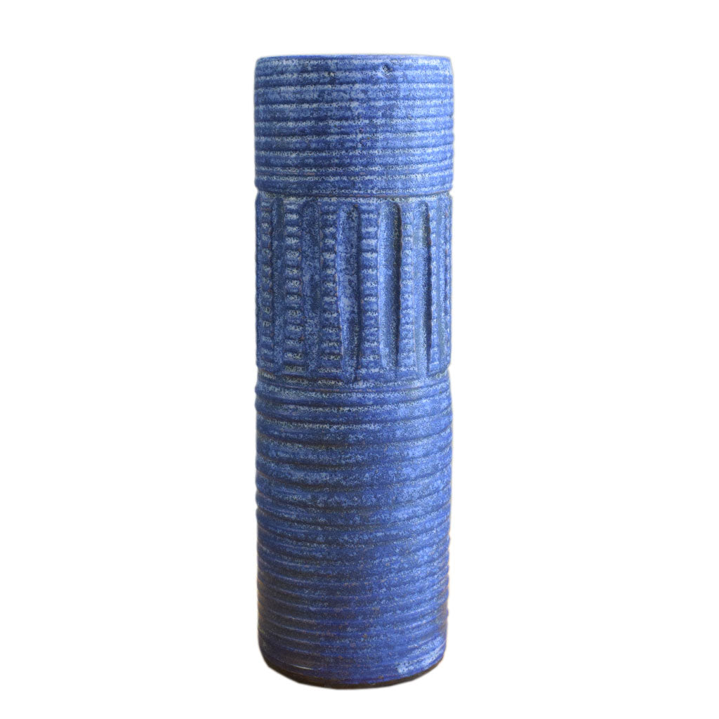 "12"" Cylinder Vase Blue - TheMississippiGiftCompany.com"