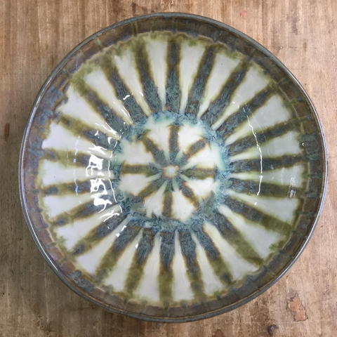 Bluebird Large Round Serving Bowl - TheMississippiGiftCompany.com
