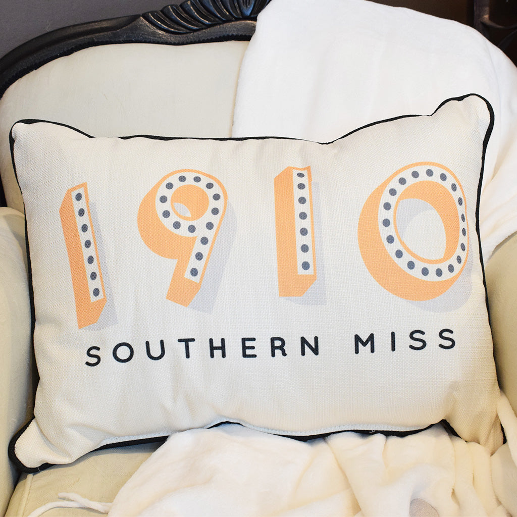 1910 USM Rectangle Pillow - TheMississippiGiftCompany.com