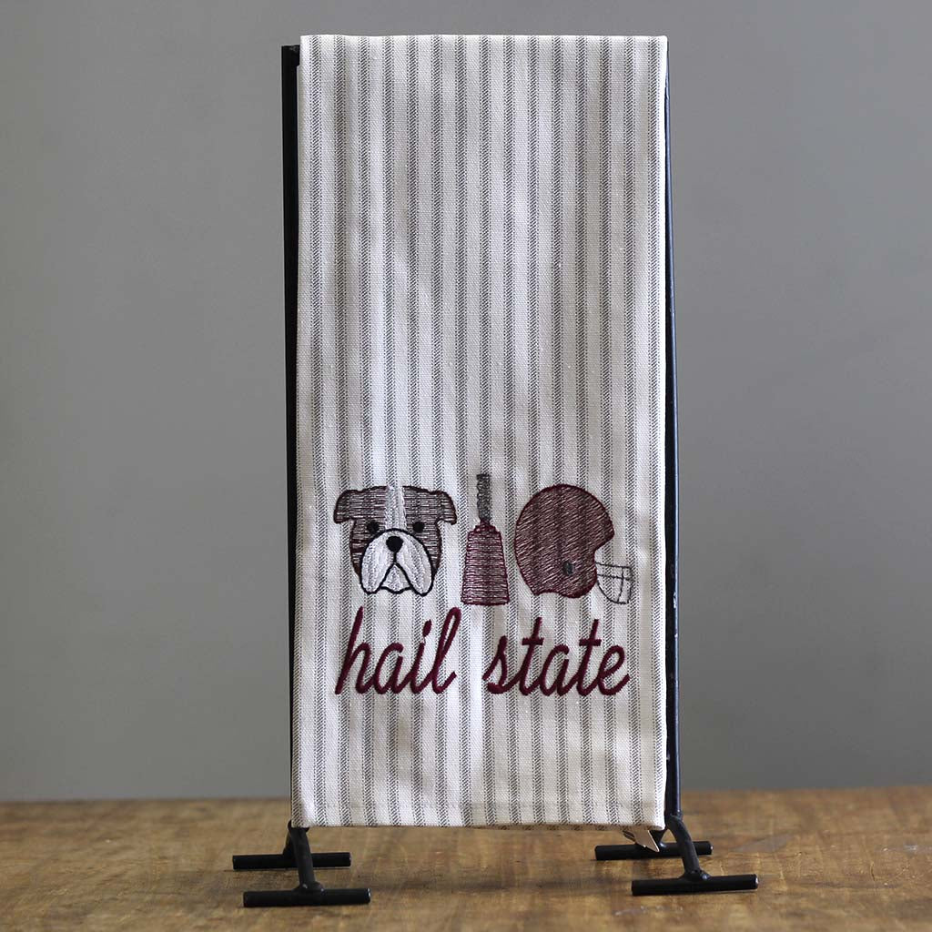 Hail State Trio Hand Towel - TheMississippiGiftCompany.com