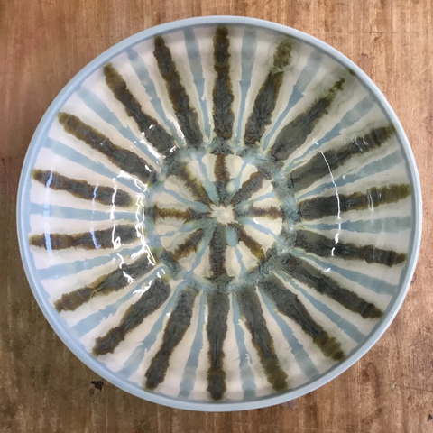 Teal Large Round Serving Bowl - TheMississippiGiftCompany.com