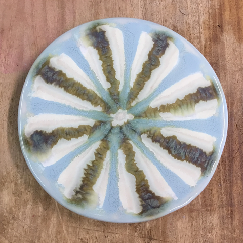 Teal Round Trivet - TheMississippiGiftCompany.com