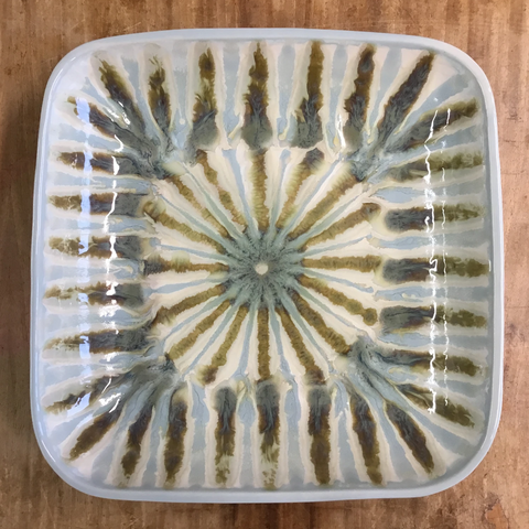 Teal Medium Square Serving Bowl - TheMississippiGiftCompany.com