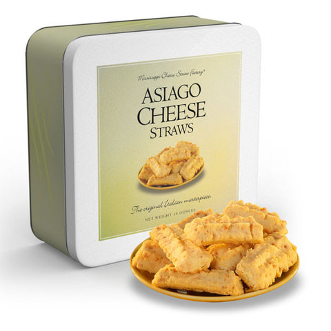 Asiago Cheese Straws Tin - TheMississippiGiftCompany.com