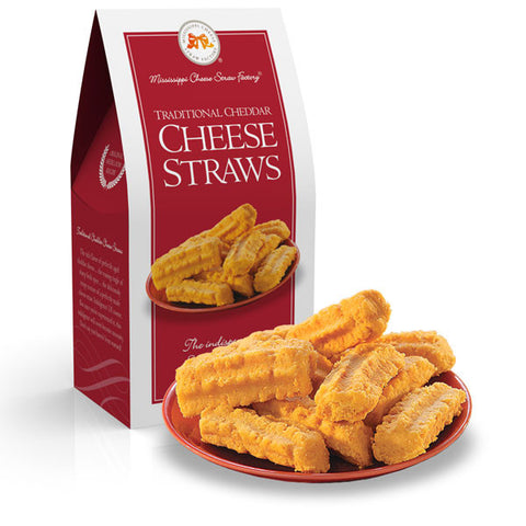 Mississippi Cheese Straws: Baked Cheddar Wafer- 3.5oz - TheMississippiGiftCompany.com