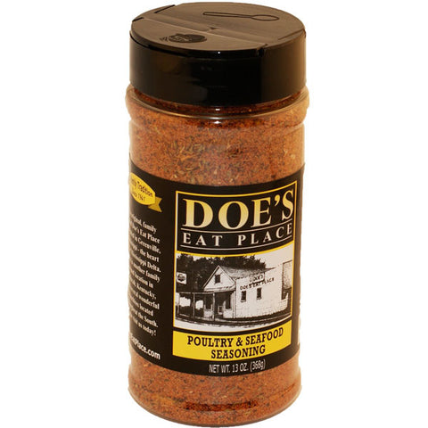 Doe's Dry Rub- Seafood, Poultry, and Quail 10.9 oz - TheMississippiGiftCompany.com