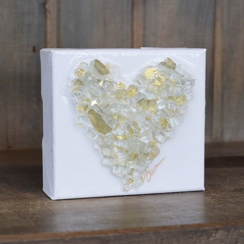 Haley Farris Glass Heart Canvas