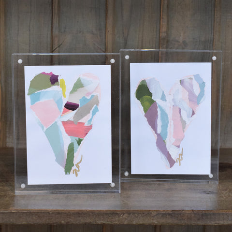 Haley Farris Acrylic Framed Paper Hearts