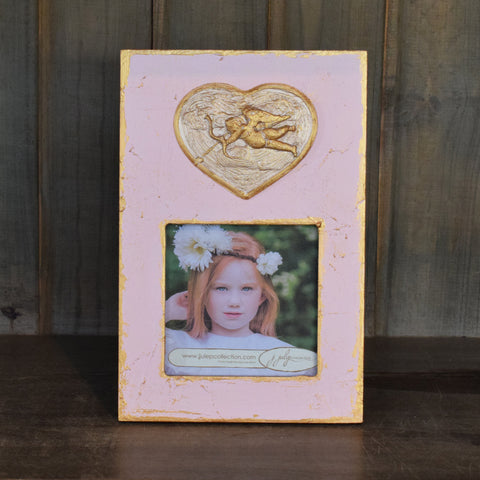 Pink Frame with Cherub