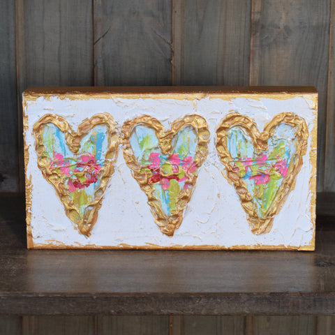 6x10 Multi Heart Wooden Block
