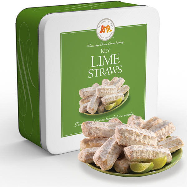 Key Lime Straws 10 oz. - TheMississippiGiftCompany.com