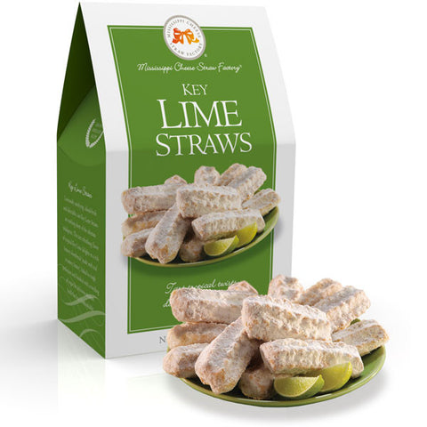 Key Lime Straws Shortbread Cookies 6.5oz - TheMississippiGiftCompany.com