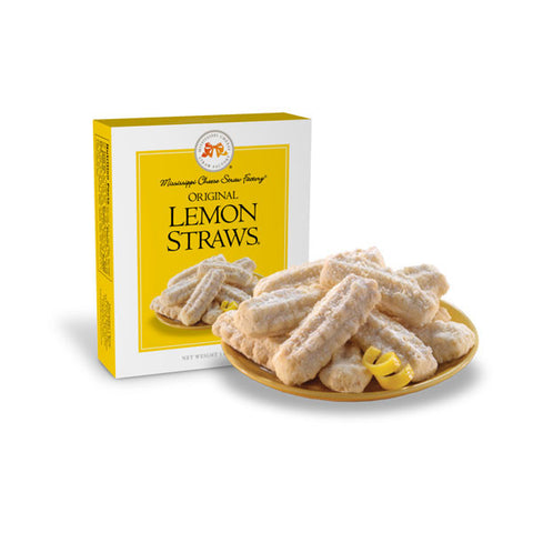 Original Lemon Straws Shortbread Cookies- 1 oz - TheMississippiGiftCompany.com